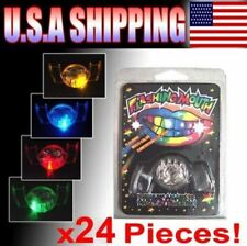 24 PCS Flashing Mouth Piece Guard Favors Glow Blinking Rave Party EDC