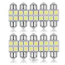 10PCS 31mm 4 LED 5050 SMD Festoon Dome Car White Light Interior Lamp Bulb 12V CN