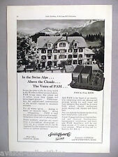 Samson Electric Phonograph Pick-Up PRINT AD - 1930 ~Waldheim Hotel Pension Swiss