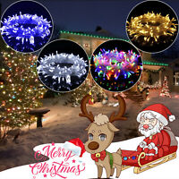 Christmas Tree Fairy String Lights Xmax Party Waterproof Color Lamp 100 LED 10M