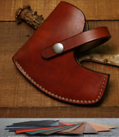 Blade hatchet axe ax bag scabbard sheath case cow leather customize brown red