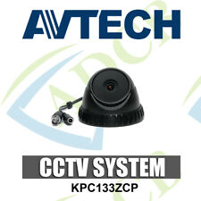 AVTECH KPC133ZCP High Resolution CCTV Dome Black Security Camera Indoor 3.6mm