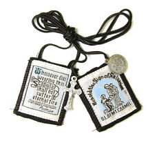 Scapular Best Our Lady Mt Carmel Brown Scapular 100% Wool & Medals Catholic