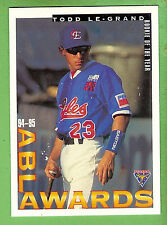 1995 AUSTRALIAN BASEBALL CARD #91  TODD  LE-GRAND, ROOKIE  OF THE YEAR