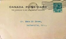 CANADA 1915 CANADIAN WWI KING GEORGE V 1c GREEN ADMIRAL #UX27F RARE POST COVER