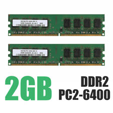 2x 2 Go DDR2 PC2-6400 6400U DDR2-800 MHZ 240 PIN MÉMOIRE DIMM PC BUREAU RAM