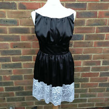 Fabulous Black Satin VICKY MARTIN Dress Size 10