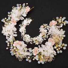 Women's Wedding Pearl Hair Crystal Hairband Flower Handmade Bridal Accessories