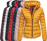 MARIKOO Damen Warme Winter Jacke Winter Parka Steppjacke Teddyfell Jacke Kapuze