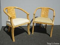 Pair of Designer Carlo Pessina Madura Arm Chairs