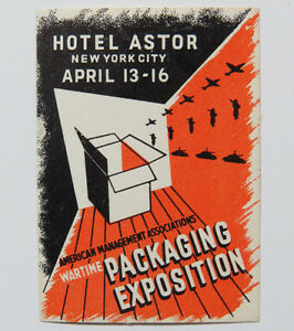 Poster Stamp Cinderella Wartime Packaging Exposition American Management Assn NY