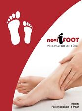 6 Paar noviFOOT sanftes Hornhautpeeling Fußpflege HORNHAUT SOCKEN ENTFERNER