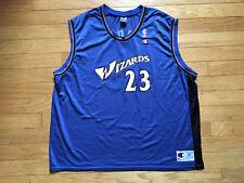 VINTAGE MICHAEL JORDAN WASHINGTON WIZARDS CHAMPION NBA JERSEY MEN'S SIZE 2XL 52