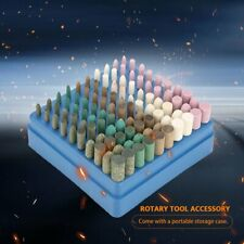 100pcs 3mm Ceramic Stone Dremel Rotary Die Grinder Drill Bit Tool Set Kit