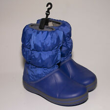 Crocs Kids Winter Blue Slip-on Puff Boots UK 3 EU 35.5 US 4.5