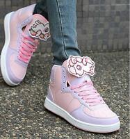 Cute Women Chic Animal Decor Trainers Running Kawaii Lolita Lace Up Sneakers @SY