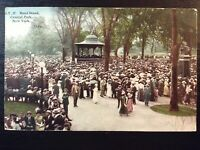 Vintage Postcard>1917>Central Park Band Stand>New York City>N.Y.