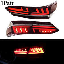 For Toayota Camry 2018 2019 LED Black Tail Lights Brake Turn signal Lamps Kits