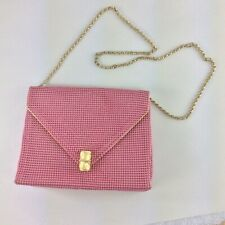 VintagePappagallo Pink Beaded Gold Purse Bag Chain Strap