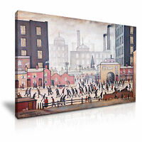 Coming from the Mill 1930 L. S. Lowry Canvas Wall Art Picture Print 76x50cm