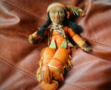 "NORAH WELLINGS 1930s RARE ""FLEETFOOT"" N. AMERICAN INDIAN VELVET CLOTH DOLL 13"""