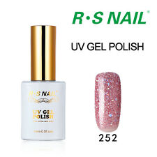 RS Gel Nail Polish UV LED Girls Pink Glitter Soak-Off Sweet Colour Varnish 0.5oz