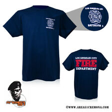 T-SHIRT MAGLIETTA FIREFIGHTERS POMPIERI DEPARTMENT LOS ANGELES FIRE MADE IN USA