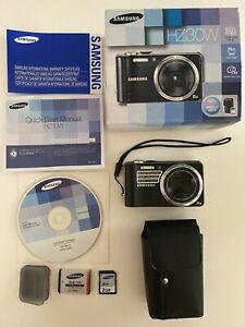 Samsung HZ30W Black Camera, Battery, Memory Card, Manual, CD, Leather Case & Box