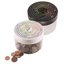 Maze Puzzle Black Money Safe Childrens Piggy Bank Coin Box Kids Brain Game Gift
