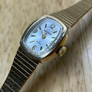 Nice Vintage Waltham Lady Gold Tone 17 Jewels Hand-Wind Up Mechanical Watch Hour