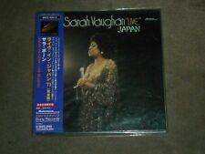 Sarah Vaughan Live In Japan Dbl CD Japan Mini LP
