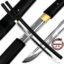 MOSHIRO Shirasaya Functional Katana Bushido Ebony Sword Full Tang Battle Ready