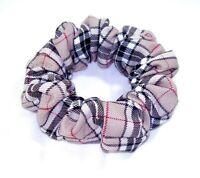 Plaid skinny beige nova check headband  1cm wide UK handmade