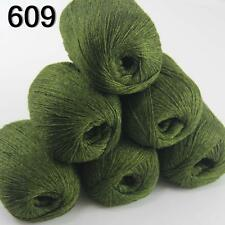 6ballsX50g luxurious Pure 100% Soft Cashmere Hand Knitting Yarn 609 Dark Olive