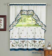 Love Birds Kitchen Curtain with Swag and Tier Set 36 In #1656