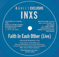 Inxs Rare Blue vinyl flexi giveaway only OZ 45 Faith in each other Live VG+ '91