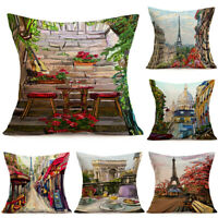 Vintage Sights 18inch Linen Throw Pillow Cases Cushion Cover Home Sofa Decor New