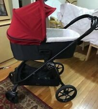 Baby Jogger City Premier Stroller, Black and Teal AND Deluxe Pram, Red
