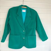 Pendleton Petite Wool Plaid Blazer Women's Size 4 VTG Green