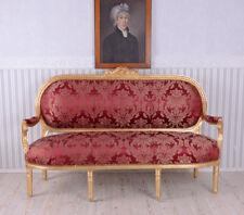 Barockes Sofa Salonsofa Rokoko Sitzbank Rot Barock Couch