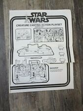 Creature Cantina Star Wars  Vintage Instructions Original