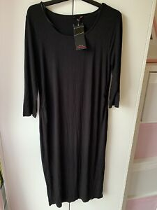Peacocks Evie Maternity Black Dress BNWT 14