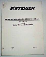 "Steiger Puma Bearcat Cougar 1000 Series Tractor ""Main Wiring Schematics"" Manual"