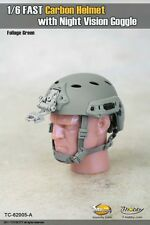 1:6 Toys City FAST Carbon Helmet Set A for Action Figure w/ Night Vision Goggle
