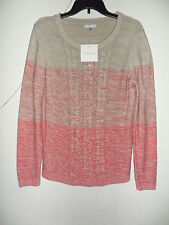 Croft&Barrow Ombre Sweater Beige/hot Pink 100% Cotton Size: Medium New with tag