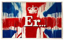 Australian Seller BANKSY A1 SIZE PRINT canvas ER UK UNION JACK