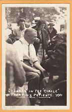 Real Photo Postcard RPPC - Dr Locke in Circle Treating Patients Medical Medicine