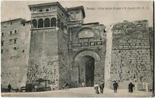 1929 Perugia - Porta Urbica etrusca o di Augusto, bicicletta - FP B/N VG ANIM