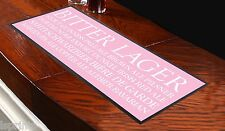 BEER BUSBLIND PINK BAR RUNNER IDEAL FOR HOME COCKTAIL PARTY BAR MAT PUB DECOR
