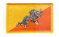 BHUTAN BHUTANESE FLAG PATCHES COUNTRY PATCH BADGE IRON ON NEW EMBROIDERED